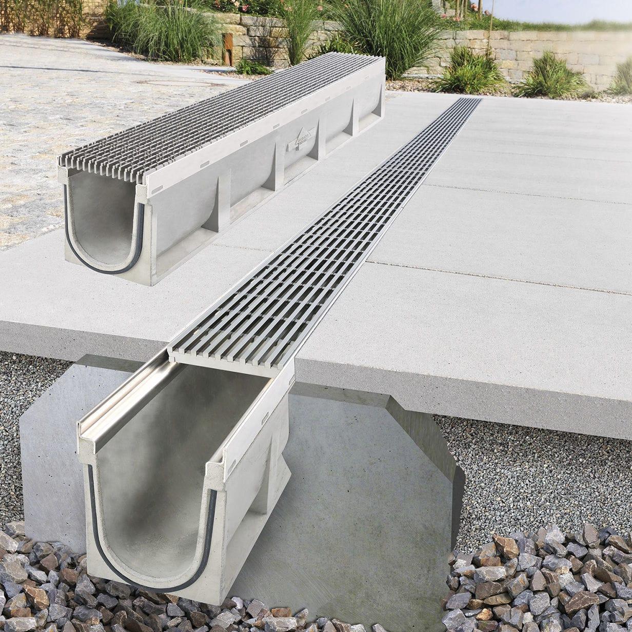 Verkehrs Entwasserungsrinne Beton Betonrinne Fortis Richard