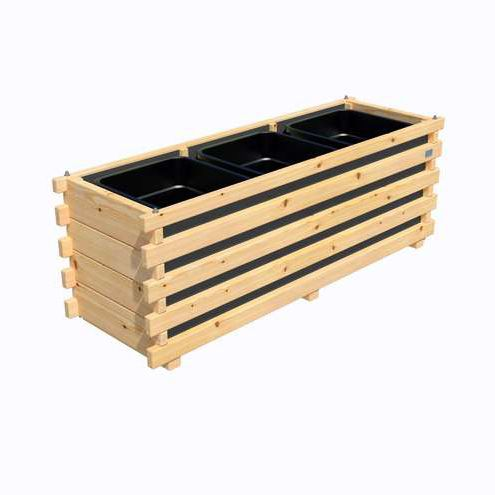 Holz-Pflanzkübel / rechteckig / modern - IRIS - Pircher