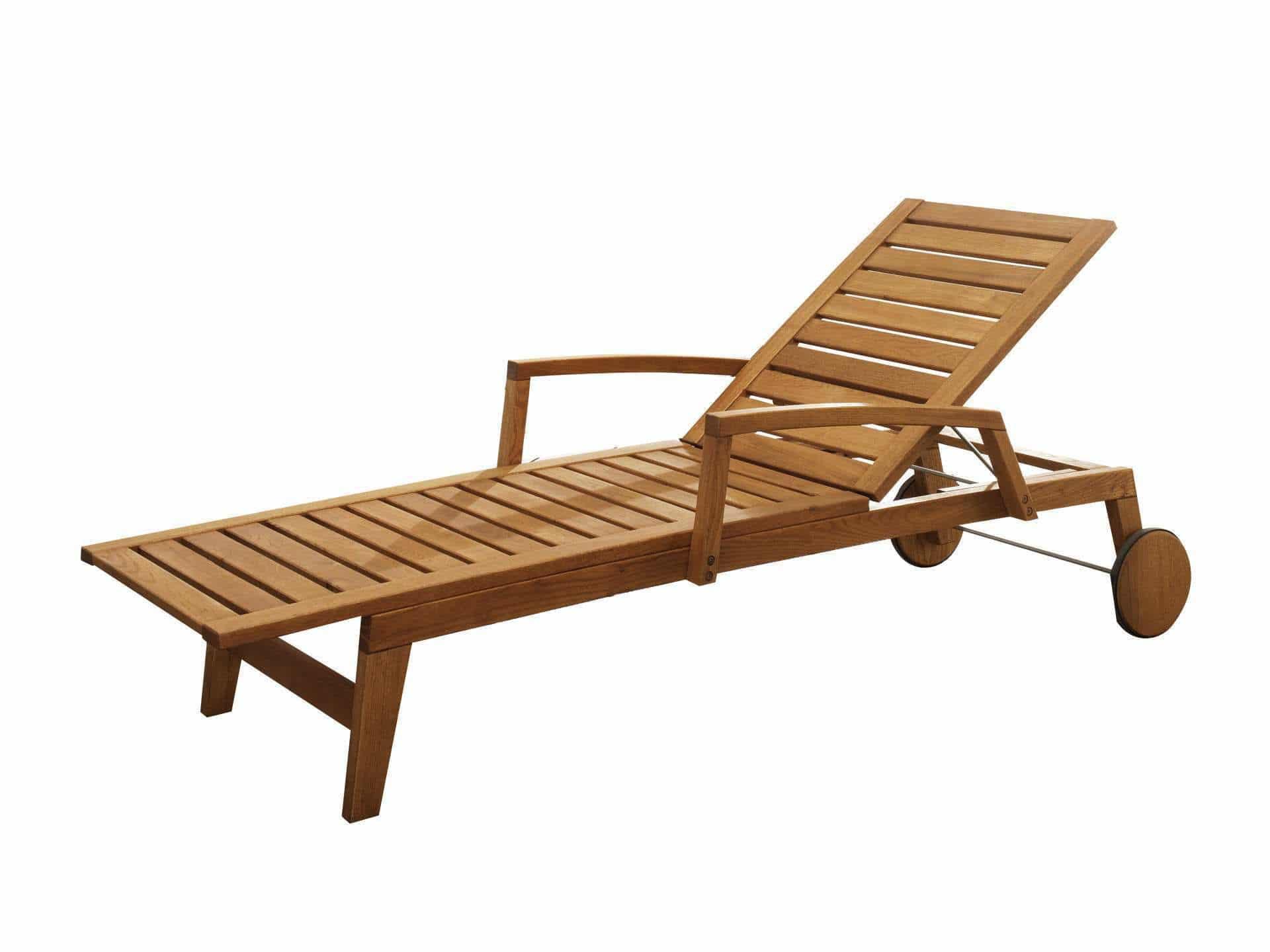 Sonnenliege holz  Moderne Sonnenliege / Holz / für den Garten / verstellbare Rücklehne ...