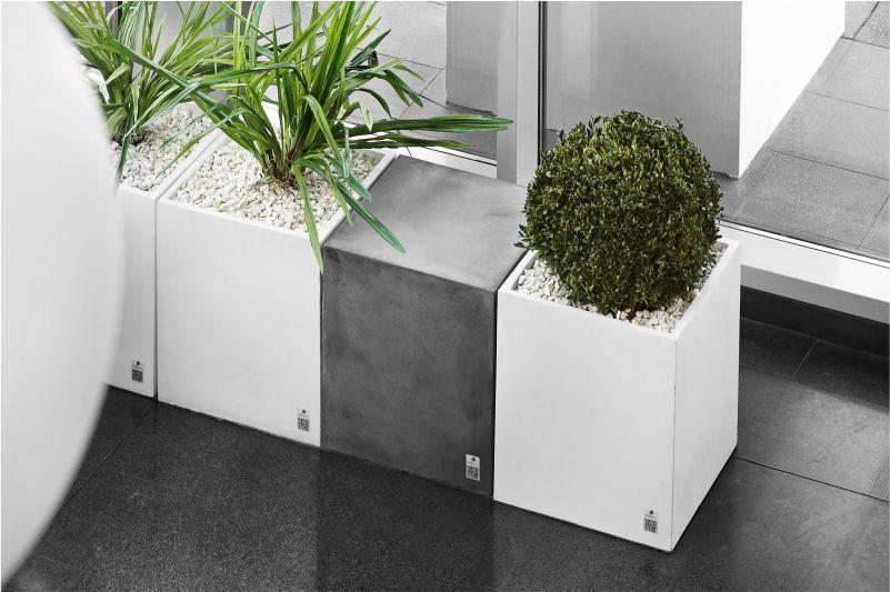 Beton-Pflanzkübel / rechteckig / quadratisch / modern - REGULAR ...