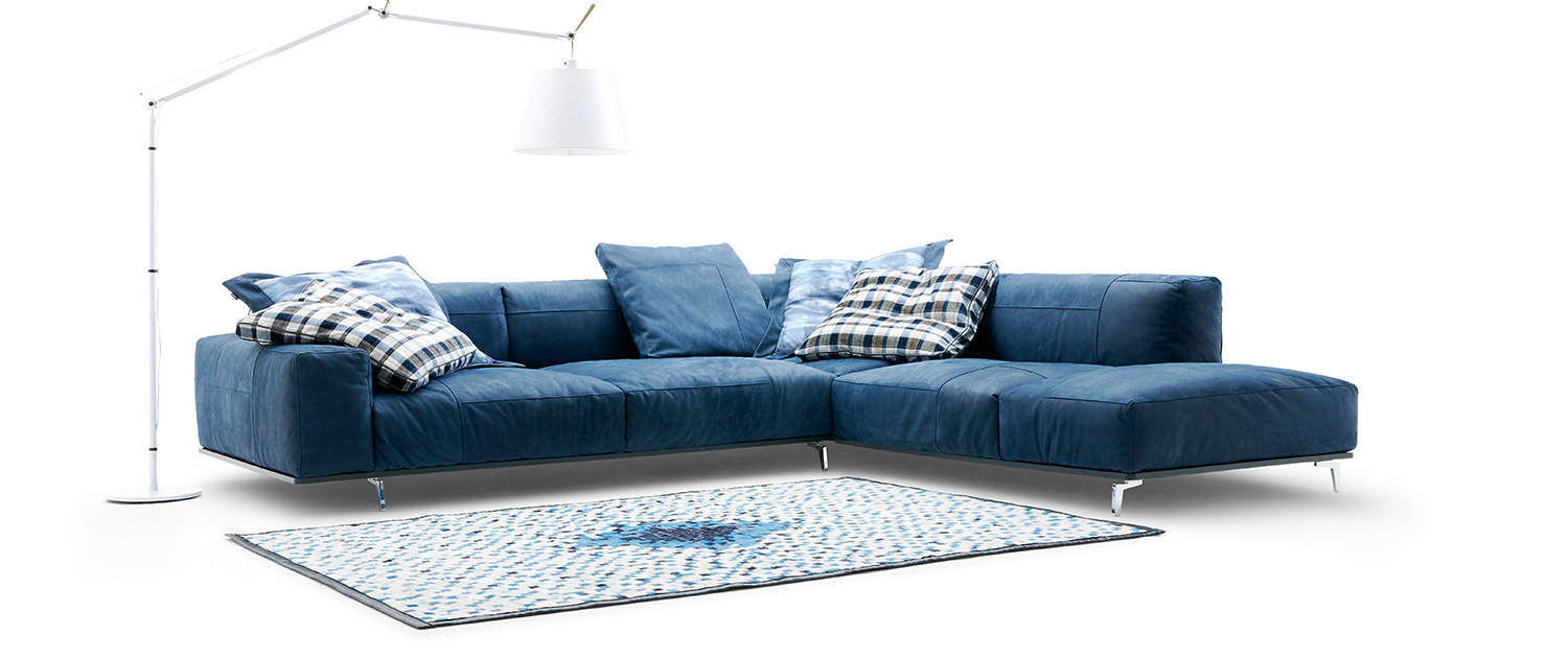 Eckcouch modern stoff  Ecksofa / modern / Stoff / Leder - LOULOU - TM Collections GmbH ...