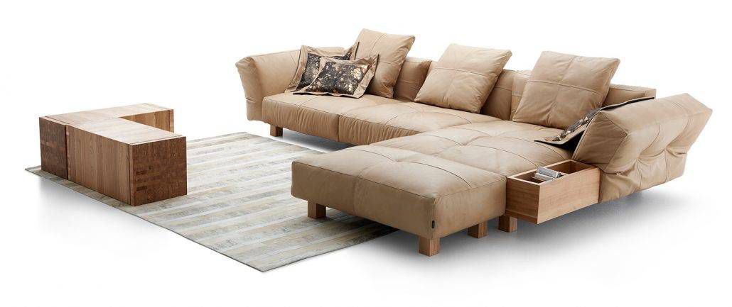 Sofa modern braun  Modulierbares Sofa / modern / Leder / braun - MONTPARNASSE - TM ...