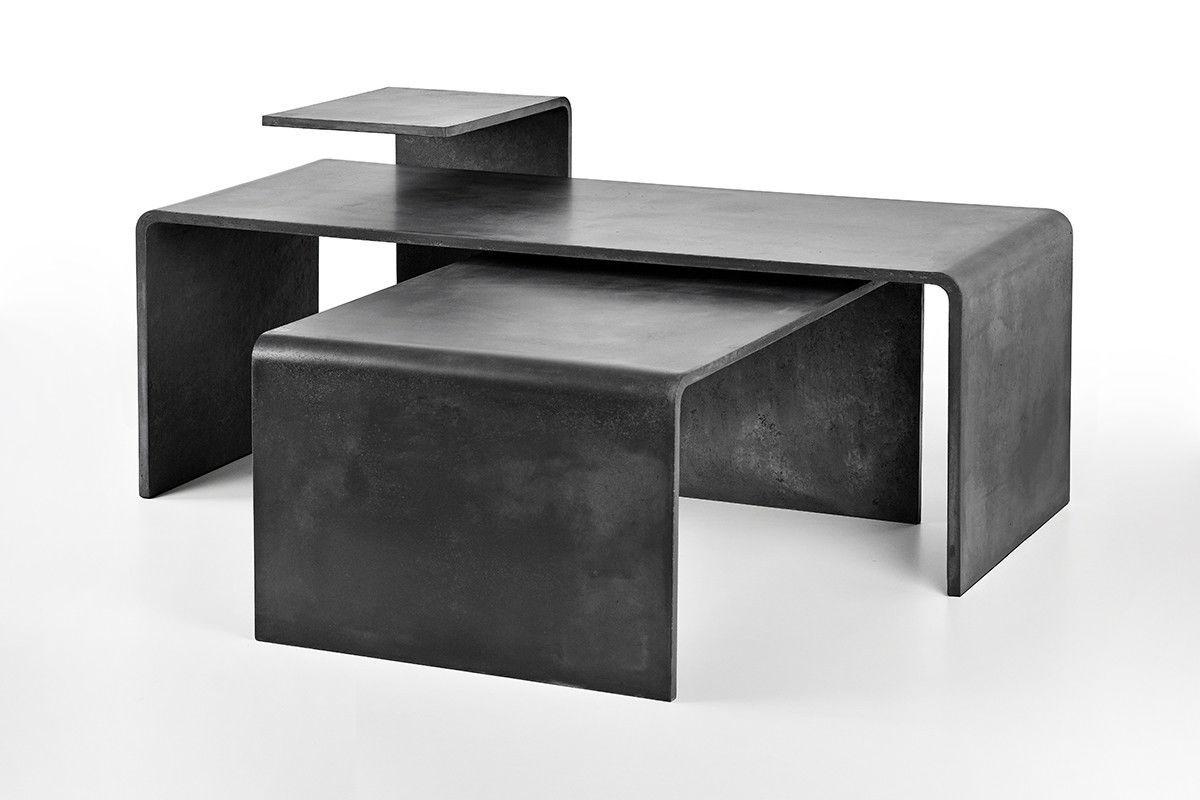 Moderner Couchtisch / Beton / Rechteckig / Innen   TRIO SET