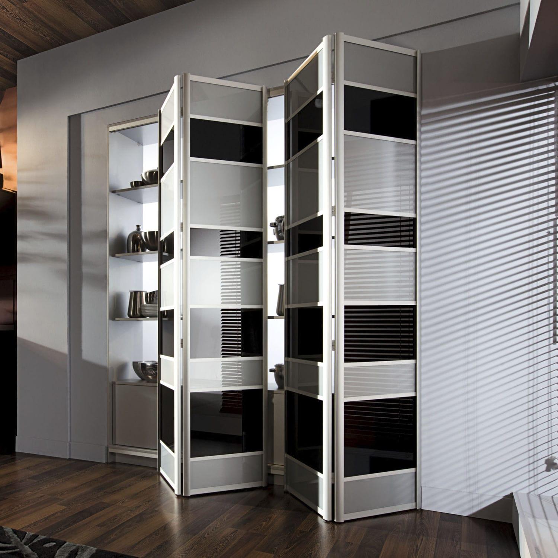Tur Fur Wandschrank Faltbar Massivholz Halbverglast Modern