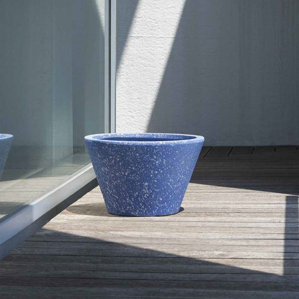 Keramik-Pflanzkübel / rund / modern - AFRICAN SKY. - Pot à Porter
