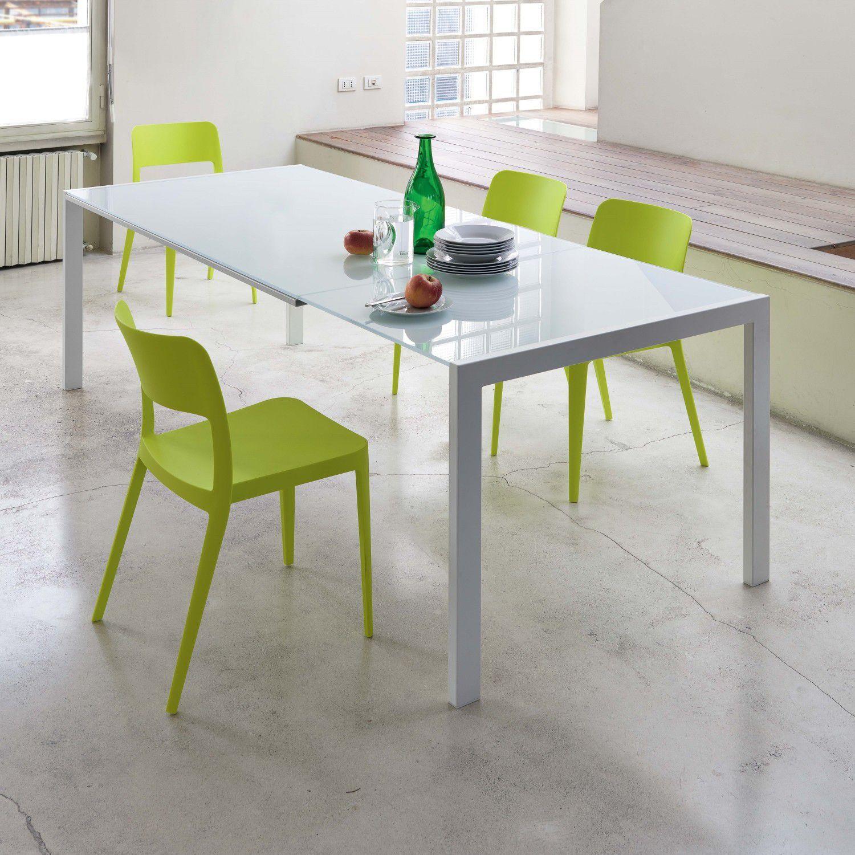 moderner esstisch / lackiertes holz / glas / stahl - oplÀ ... - Moderner Esstisch Holz Stahl