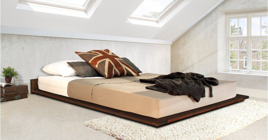 Tatami Bett Doppelt Einfach Minimalistisch Low Modern Attic