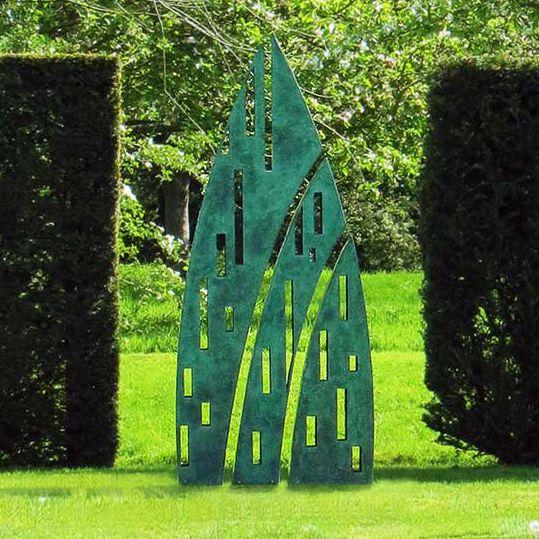Bronzeskulptur / polierter Edelstahl / Garten / für öffentliche Bereiche  EVEQUE DAVID HARBER