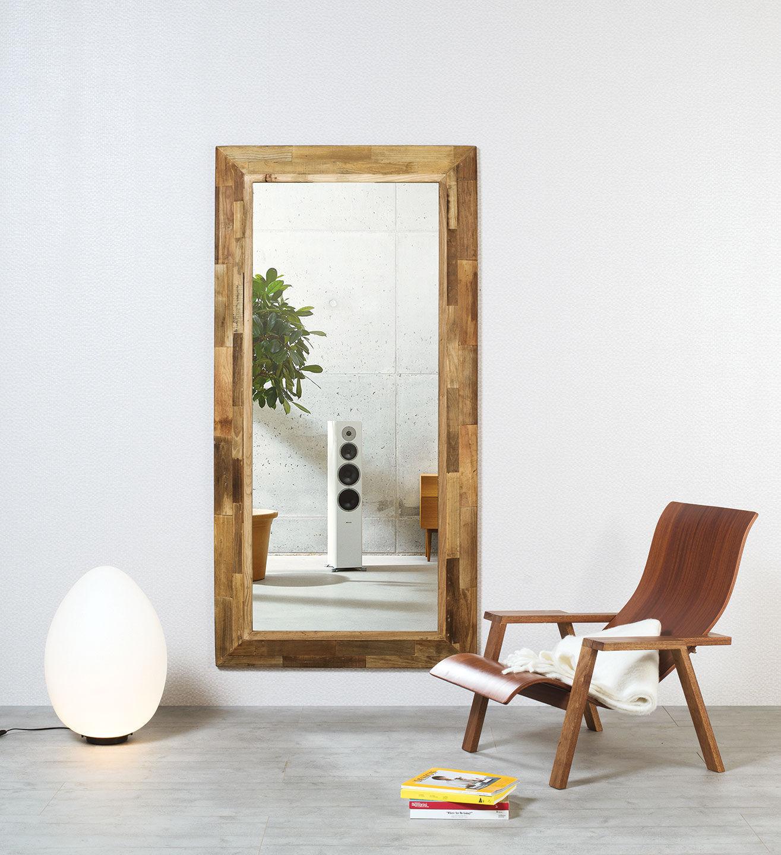 Wandmontierter Spiegel / Modern / Rechteckig / Massivholz   EDGE Idea