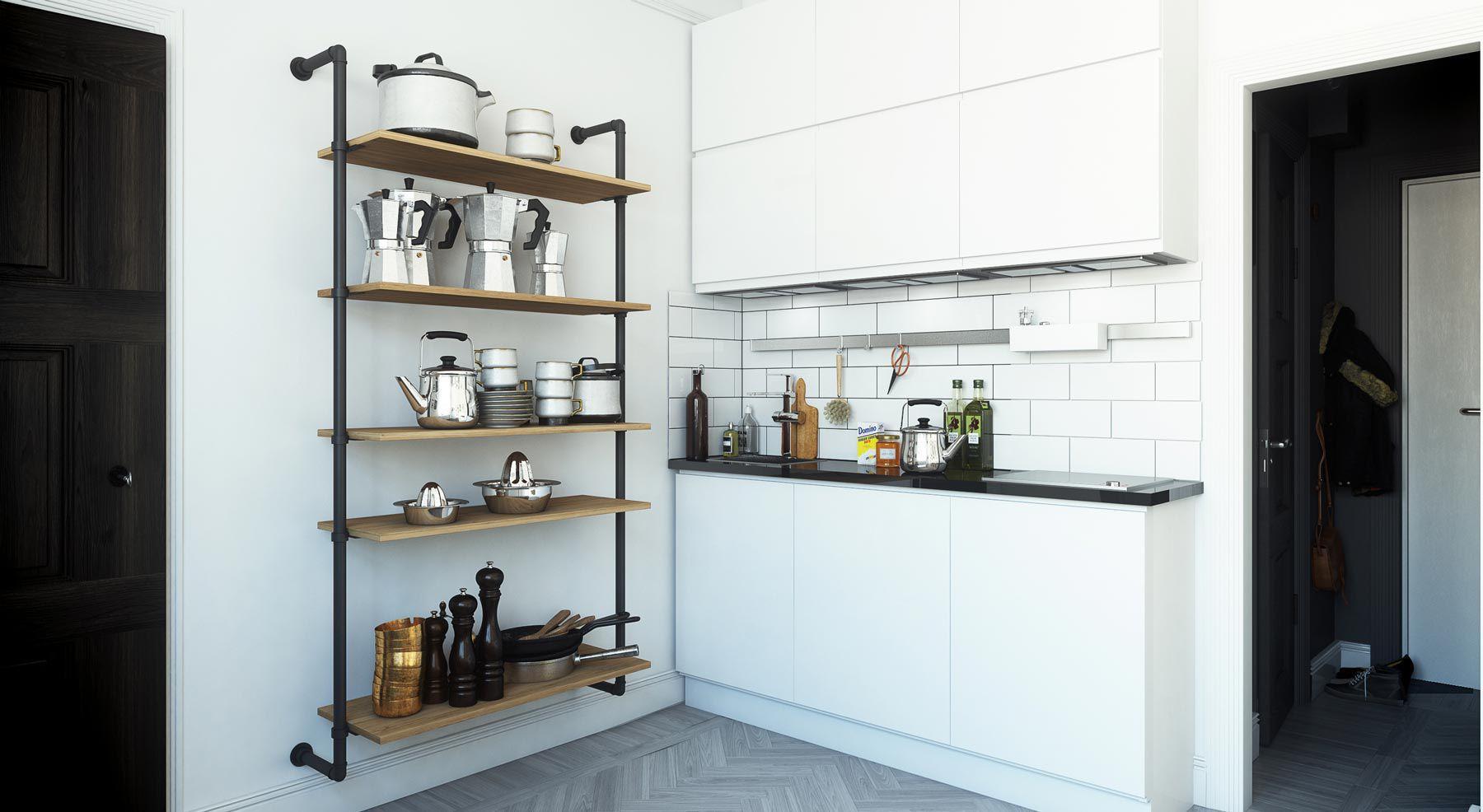 Cool Küche Industriedesign Ideen Von Wandmontiertes Regal / Modul / / Holz