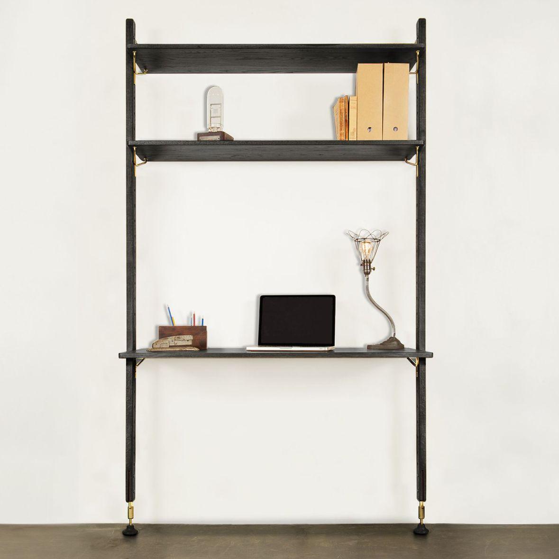 Verschiedene Regal Mit Schreibtisch Foto Von Aus Eiche / Stahl / Modern /