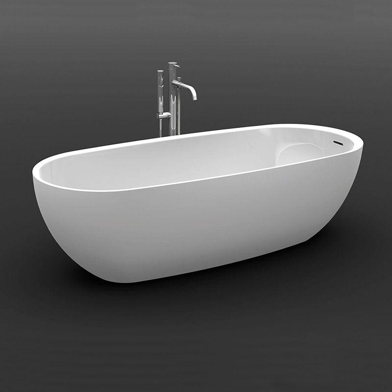 Freistehende Badewanne / Oval / Verbundwerkstoff   EGG By Gracinha Viterbo