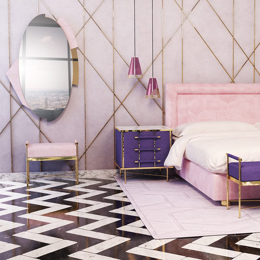 Wandmontierter Spiegel / Schlafzimmer / modern / oval - JAYNE - By Swans