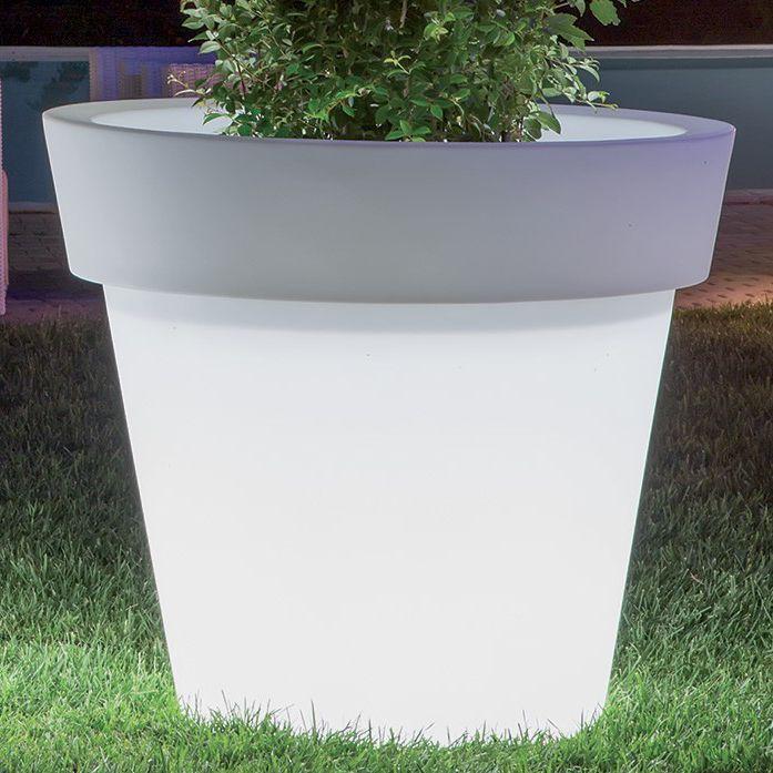 Polyethylen-Pflanzgefäß / rund / beleuchtet - BRIGHT : GEMMA - MONACIS