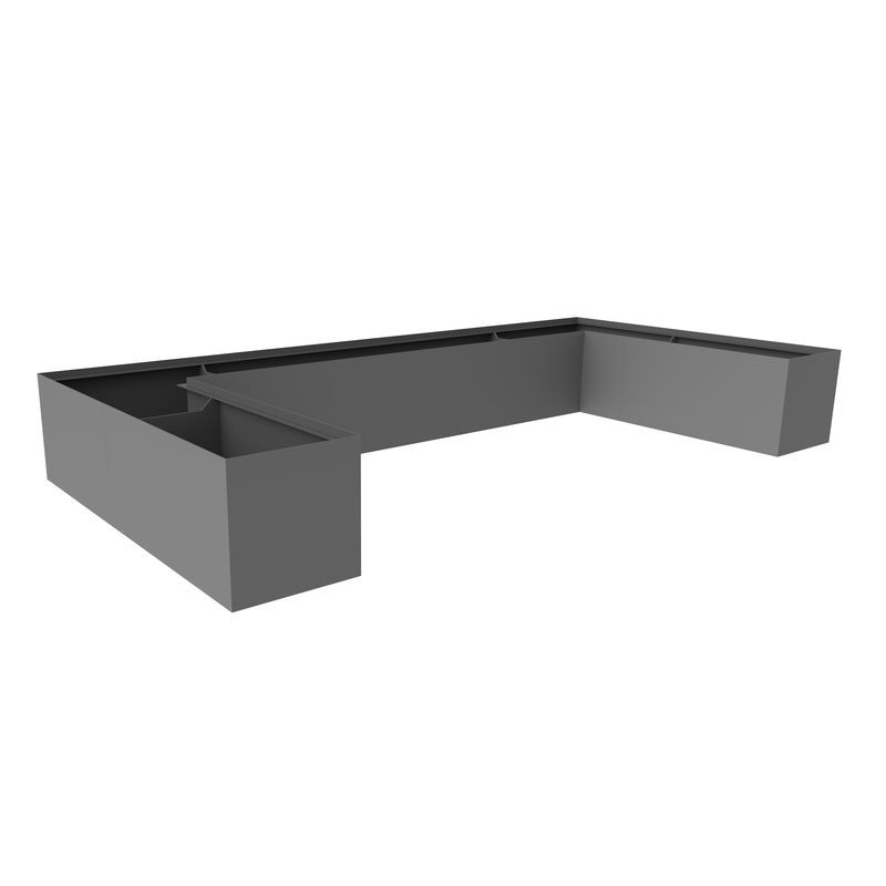 Edelstahl-Pflanzkübel / Aluminium / COR-TEN®-Stahl / modulierbar - U ...