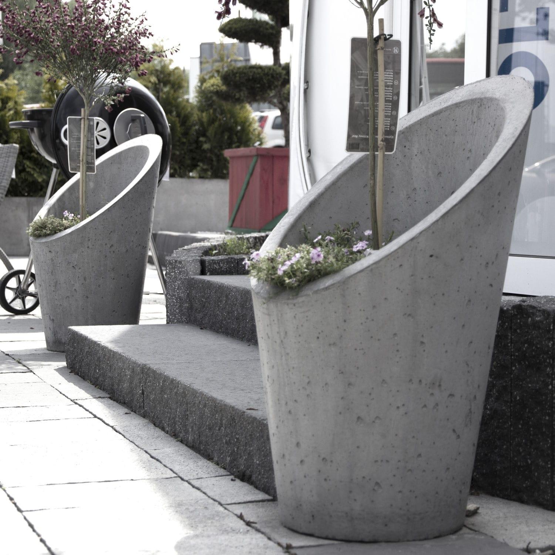 beton-pflanzkübel / konisch / vertikal / modern - flowerpot taglio