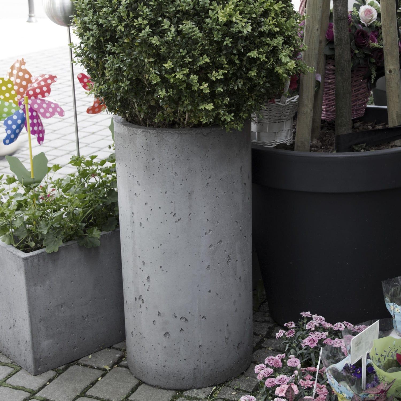 beton-pflanzkübel / rund / vertikal / modern - flowerpot toppo