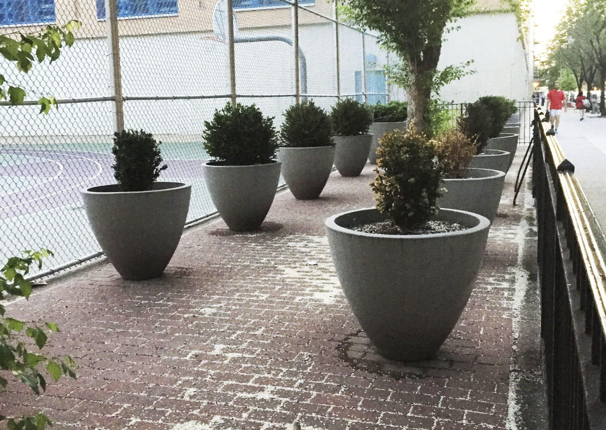 pflanzkübel aus glasfaserverstärktem beton / rund / modern / für