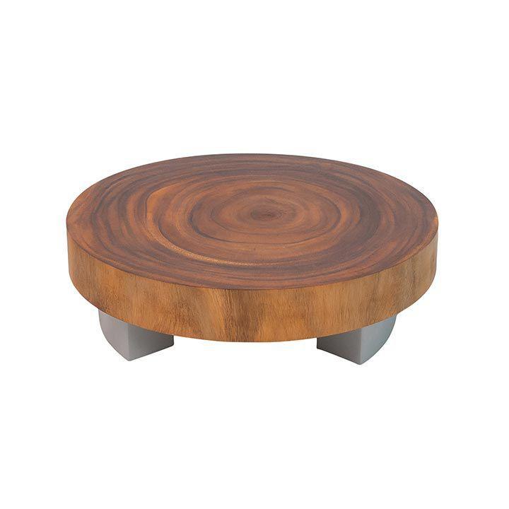 Moderner Couchtisch Holz Edelstahl Rund Rome Conte Caserta