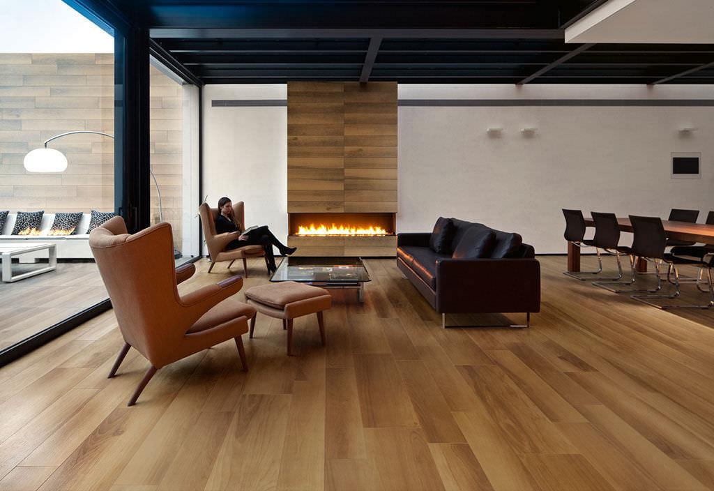HolzoptikFliesen Innenraum Außenbereich Wand LIFE NOCE - Fliesen in holzoptik 60x60