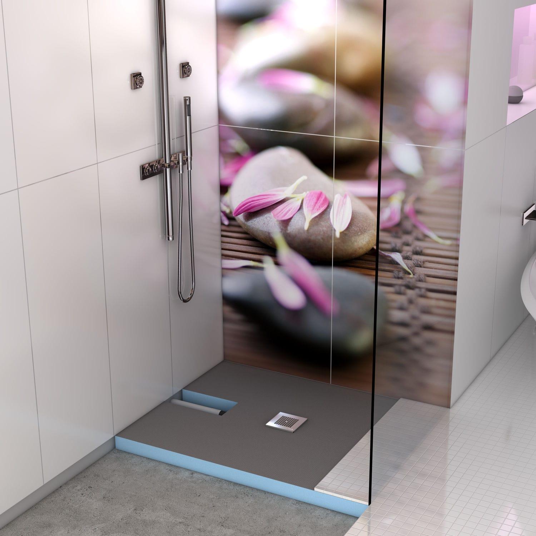 Bodengleiche duschwanne mit extra flachem ablaufsystem  Quadratische Duschwanne / Keramik / extraflach / bodengleich ...