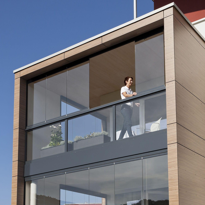 Platten-Balkon / Glas - SL 25 - SOLARLUX