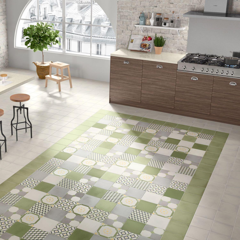 Küchenfliesen / für Böden / Feinsteinzeug / mit geometrischem Muster ...