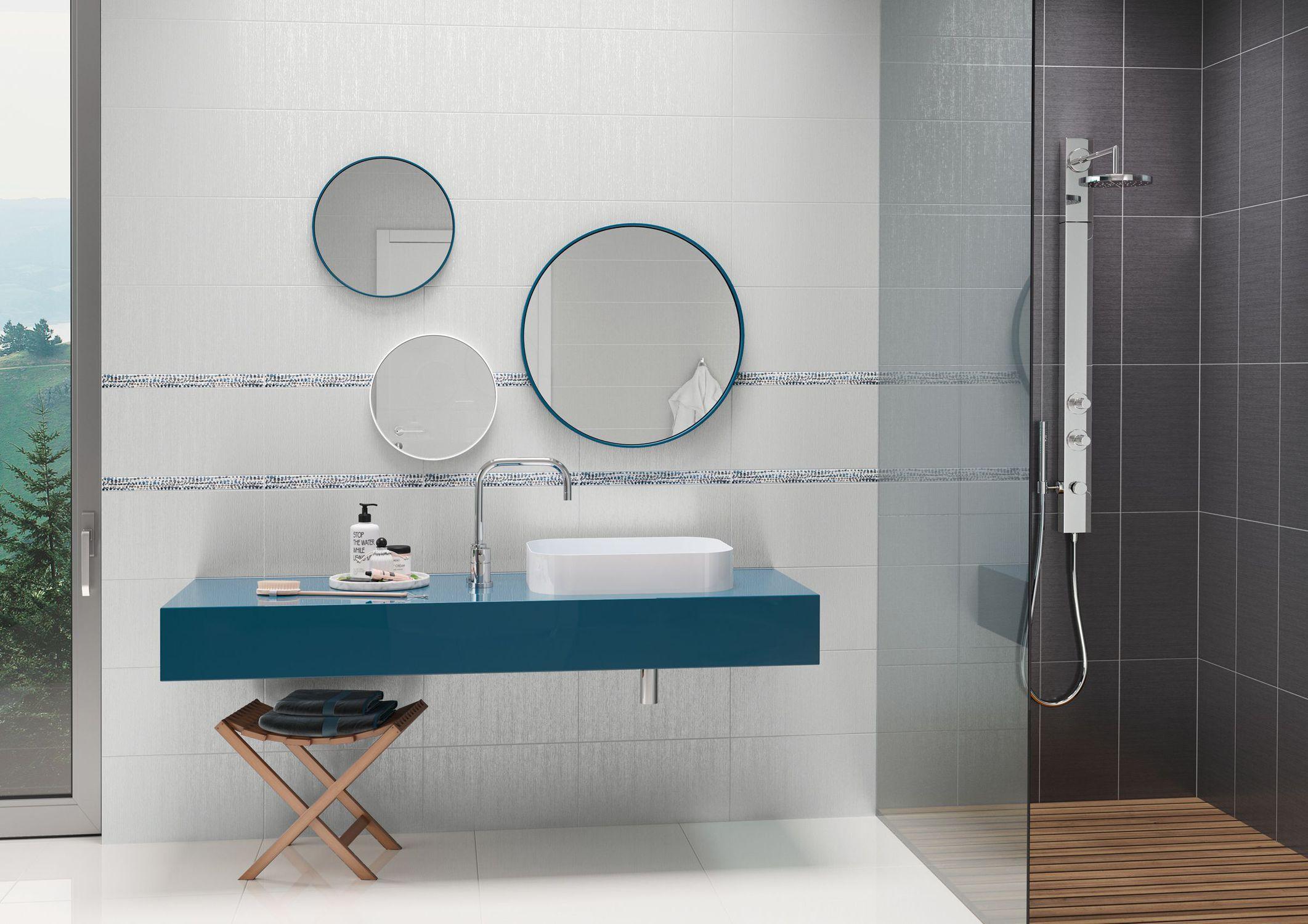 Fliesen für Badezimmer / Wand / Feinsteinzeug / Motiv - PARIS ...