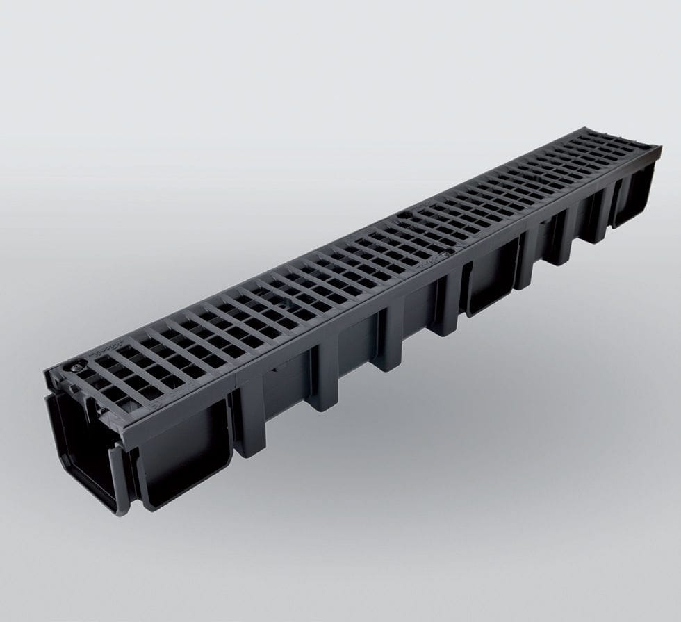 abflussrinne für parkplätze / polypropylen / gitter - connecto® b125