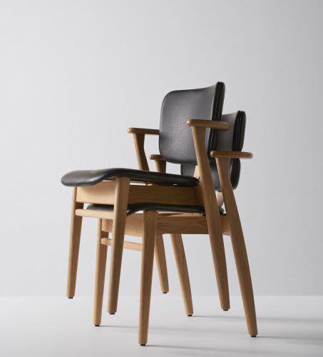 Stuhl / Skandinavisches Design / Polster / Mit Armlehnen / Stapel   DOMUS  By Ilmari Tapiovaara
