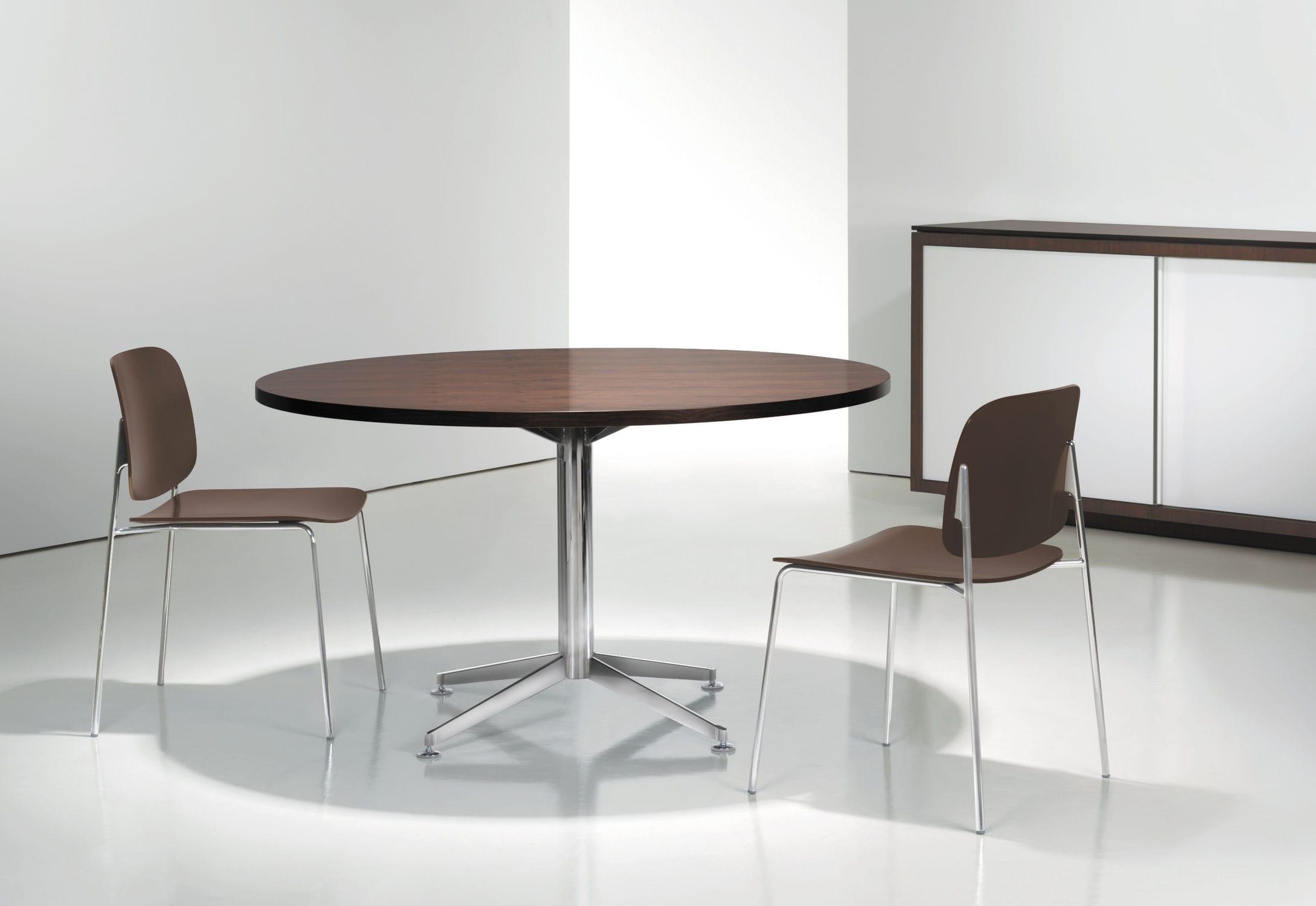 Design tisch holz metall  Moderne Tisch / Holz / Metall / rund - CIRCUIT - BERNHARD design