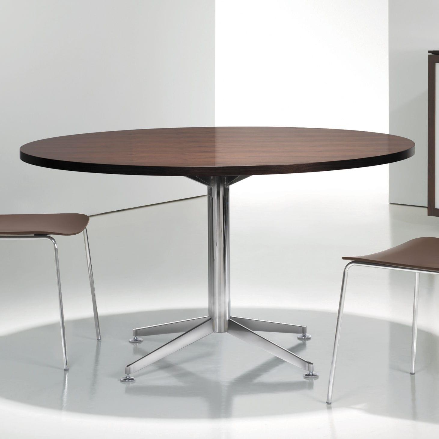 Tisch design rund  Moderner Tisch / Holz / Metall / rund - CIRCUIT - BERNHARD design