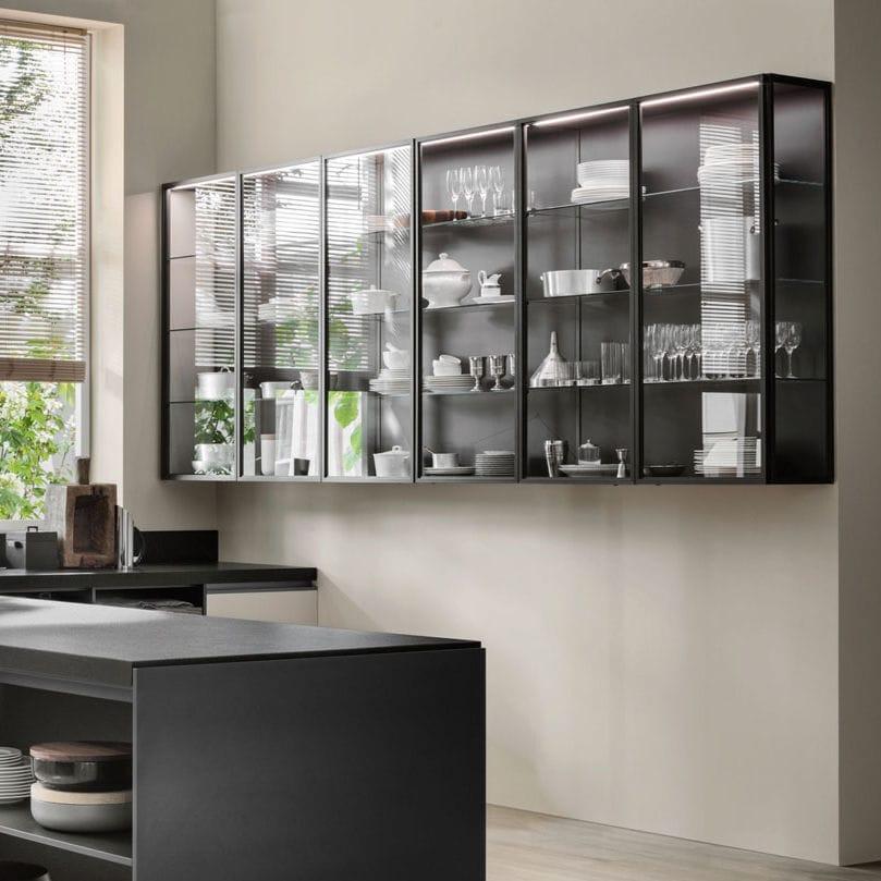 Moderner Lagerschrank für Küchen / Glas - BRIGHT WALL UNIT - Dada