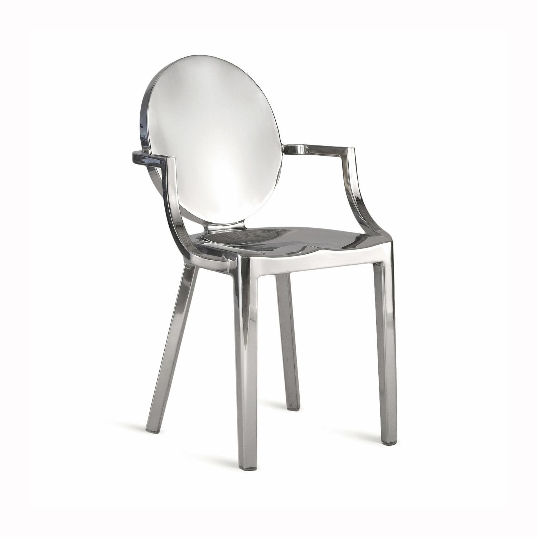 Moderner Stuhl / Medaillon / Aluminium / Von Philippe Starck   KONG : KONG  AP