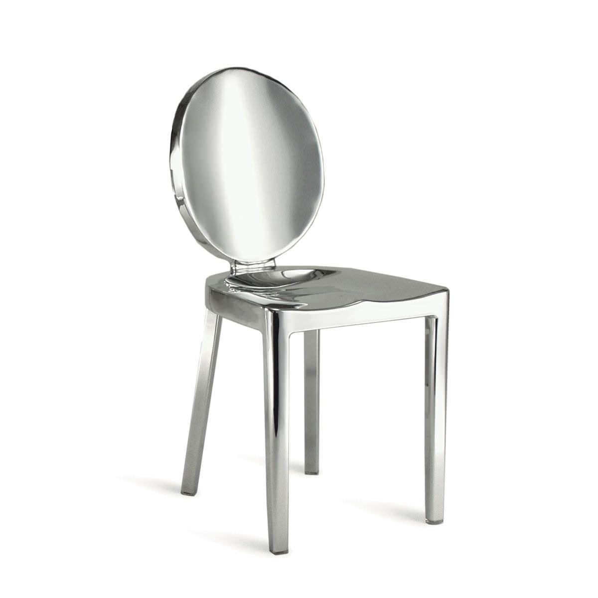 Moderner Stuhl / Medaillon / Aluminium / Von Philippe Starck   KONG : KONG P