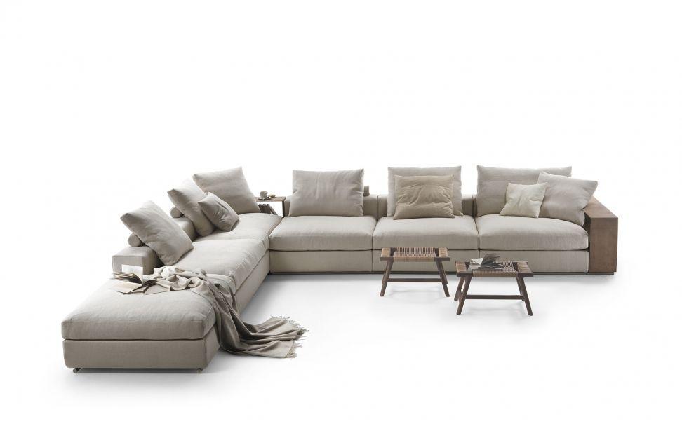 Modulierbares Sofa / Eck / modern / Stoff - GROUNDPIECE - FLEXFORM ...