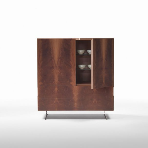 Sideboard holz glas  Hohes Sideboard / modern / Holz / Glas - PIUMA - FLEXFORM