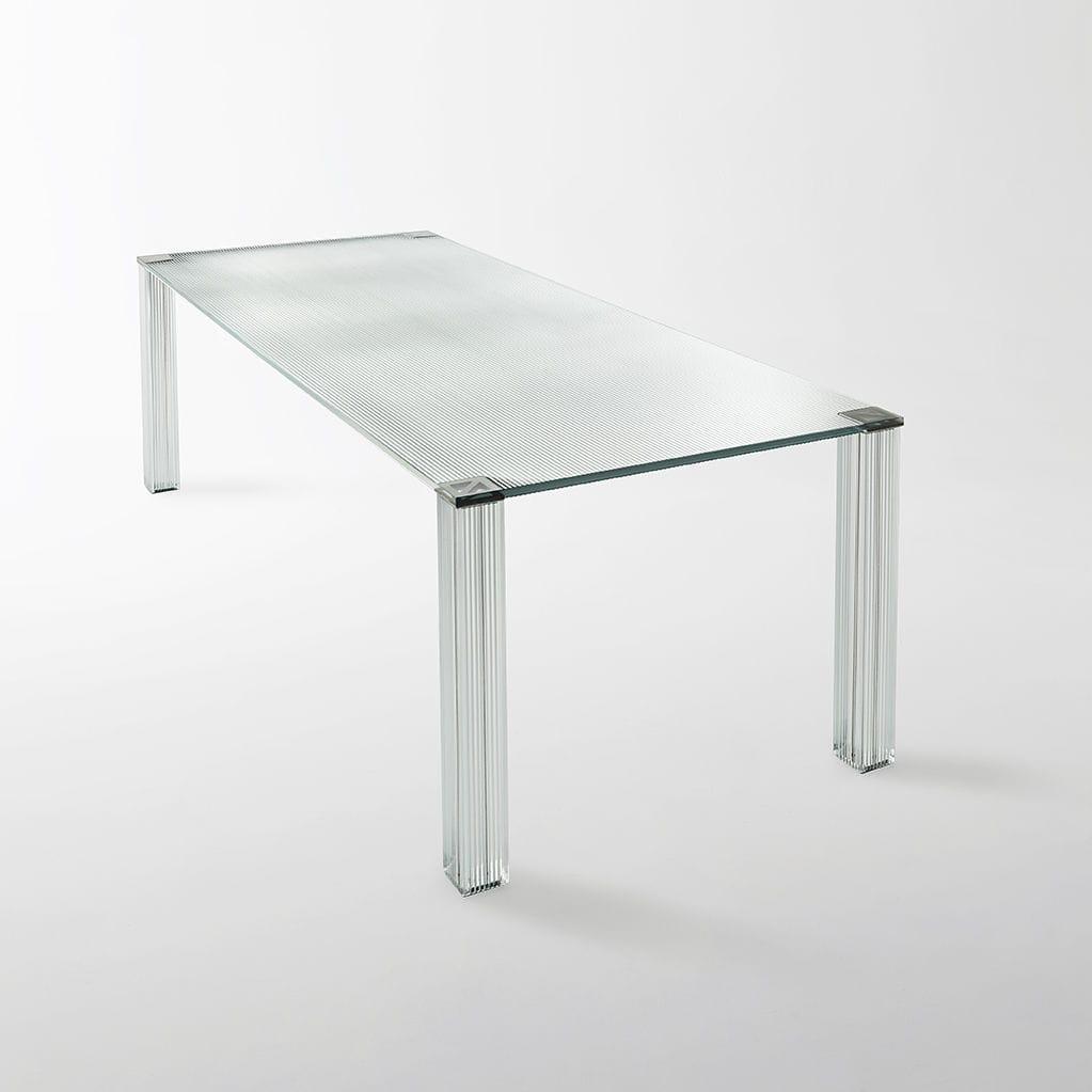 Moderner Tisch Glas Rechteckig Quadratisch Cryptee Glas