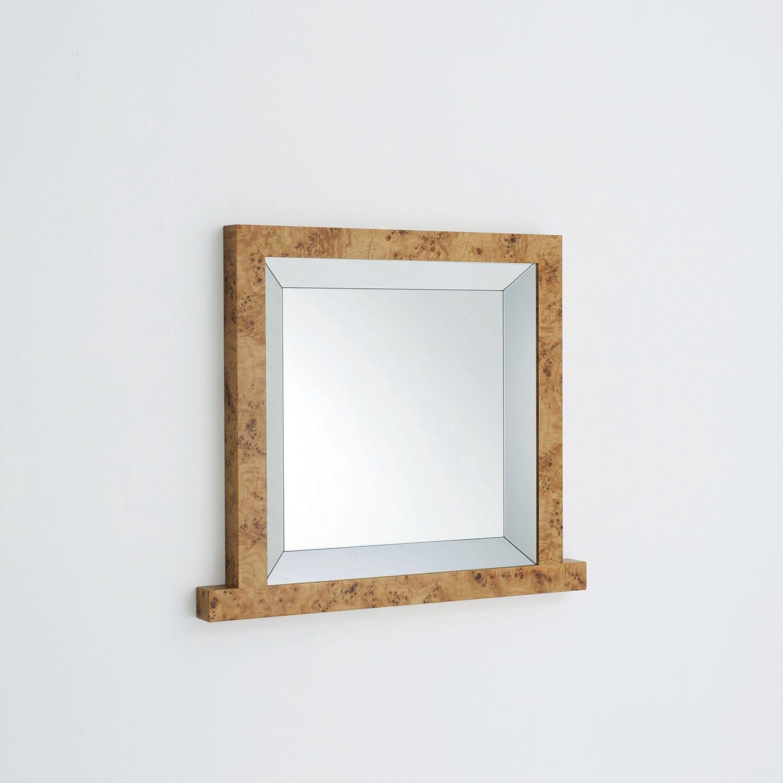 Wandmontierter Spiegel / modern / quadratisch / Holz - MANDALA ...