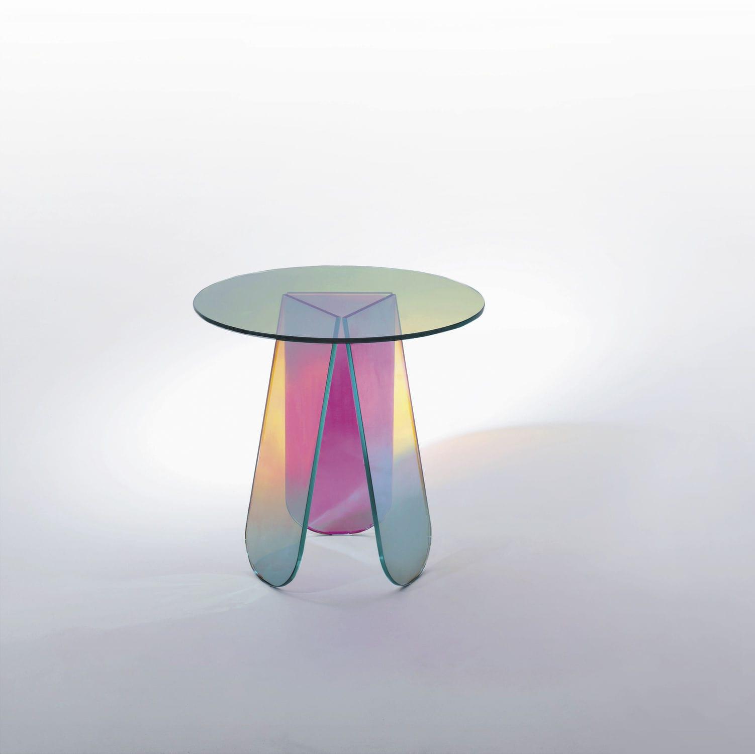Innenarchitektur Couchtisch Glas Oval Referenz Von Moderner / / Rund / - Shimmer