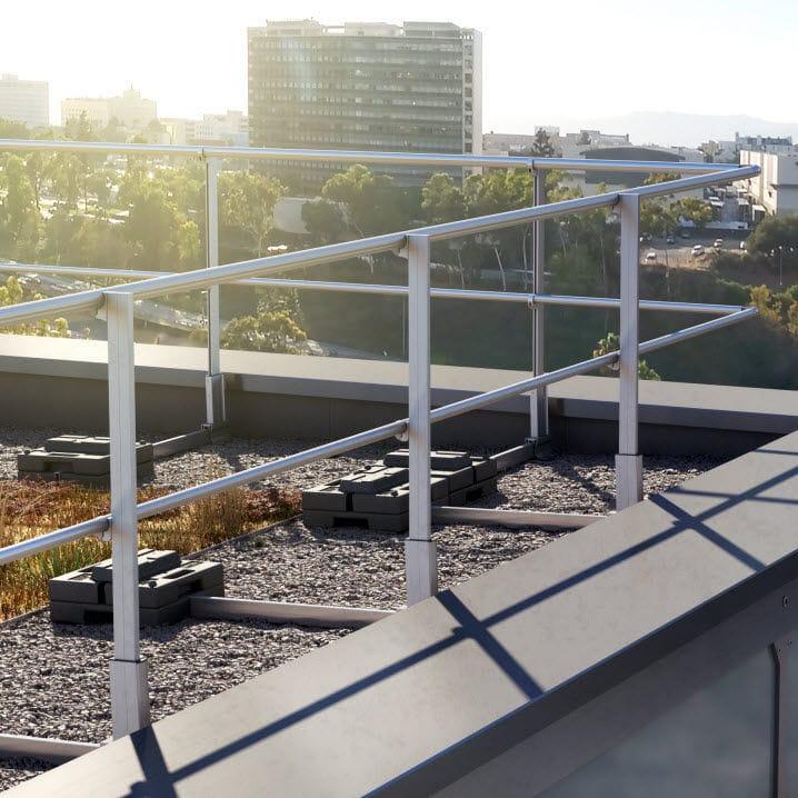 Aluminium-Geländer / Mit Stangen / Außen / Für Terrassen - Barrial