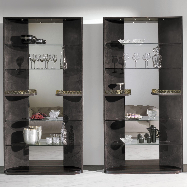 Amüsant Vitrine Glas Referenz Von Moderne / / Holz / Leder -
