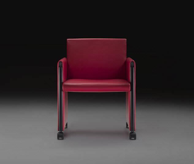 moderner sessel / leder / mit rollen / bridge - giulietta by tobia, Hause deko