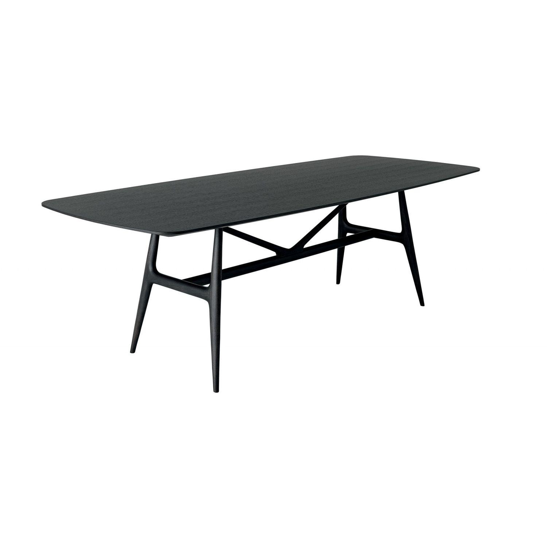 Tisch / Skandinavisches Design / Massivholz / Gebeiztes Holz / Rechteckig    GAUDI