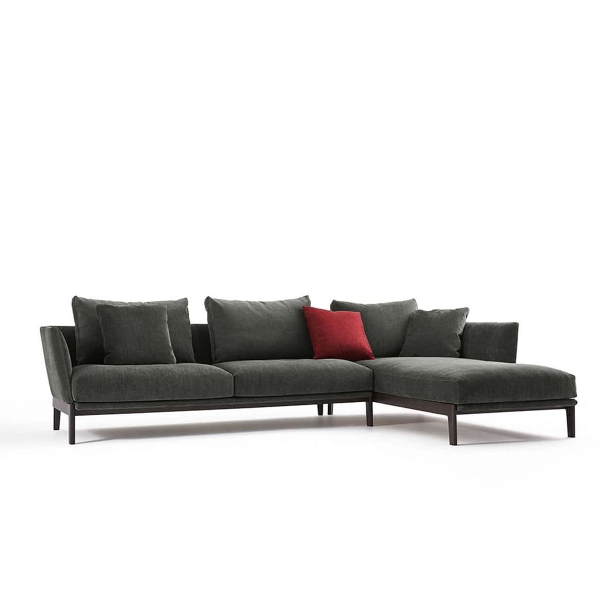 Modulierbares Sofa / modern / Leder / Stoff - CHELSEA - Molteni & C