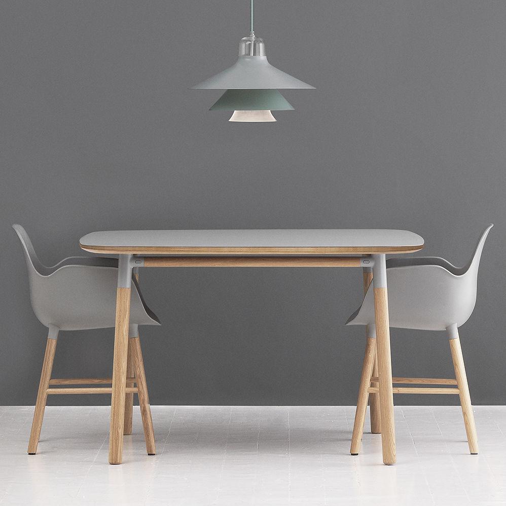Moderner Tisch / Aus Eiche / Linoleum / Rechteckig   FORM By Simon Legald