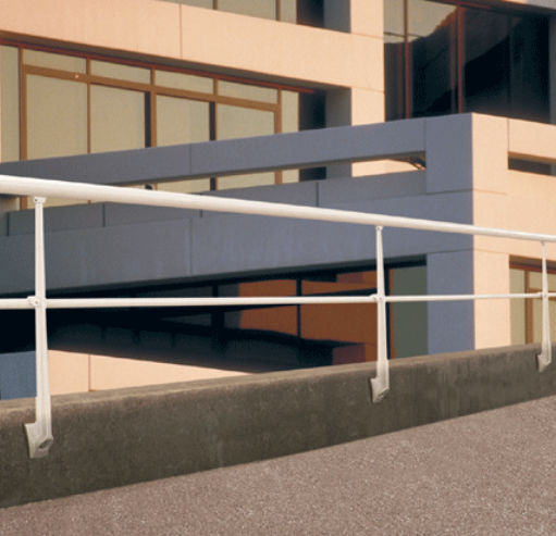 Aluminium-Geländer / mit Stangen / Außenbereich / für Terrassen ...