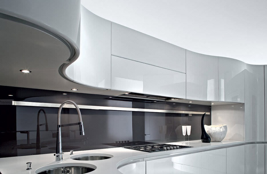 ... Moderne Küche / Holz / Lackiert / Hochglanz ARTIKA Pedini ...
