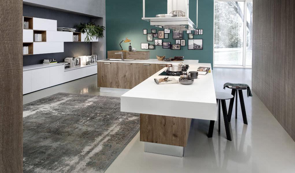 Moderne Küche / Laminat / Kochinsel EKO Pedini ...