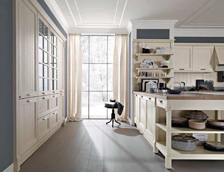 ... Moderne Küche / Holz / Lackiert VINTAGE Pedini ...
